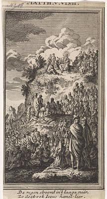 Sermon Drawing - Sermon, Jan Luyken, Anonymous by Jan Luyken And Anonymous