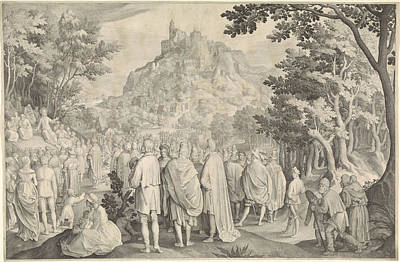 Sermon Drawing - Sermon, Nicolaes De Bruyn by Nicolaes De Bruyn