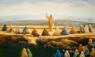 Sermon On The Mount Painting - Sermon On The Mount by Bryan Ahn