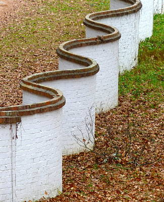 Photograph - Serpentine Brick Wall by Jean Wright