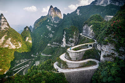 Photograph - Serpentine Road At Tianmen Mountain by Oleksiy Maksymenko