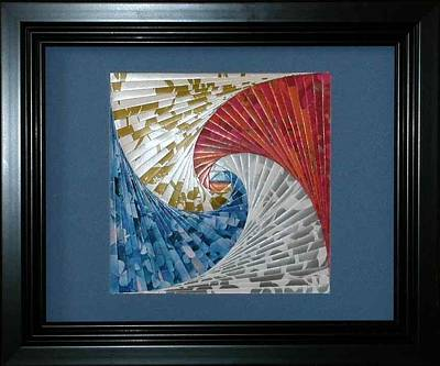Mixed Media - Serpents In Love by Ron Davidson