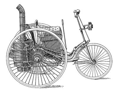 Serpollet Steam Tricycle Art Print by Science Photo Library
