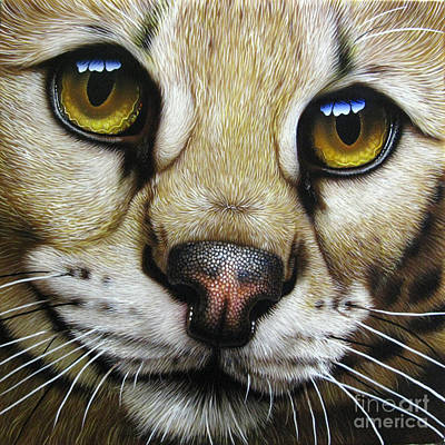 Wild Cat Painting - Serval by Jurek Zamoyski