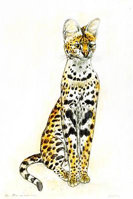 Serval Art Print by Kurt Tessmann