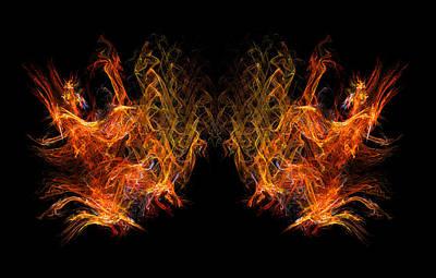 Digital Art - Servants Of Fire by R Thomas Brass