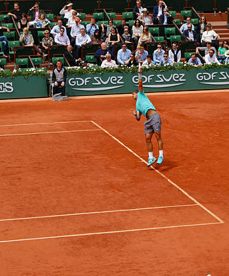Sports Royalty-Free and Rights-Managed Images - Rafa Nadal Serve in the French Open by Lexi Heft