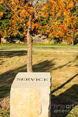 Photograph - Service On Stone by Imagery by Charly