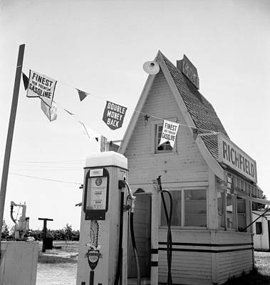 Photograph - Service Station, 1939 by Granger