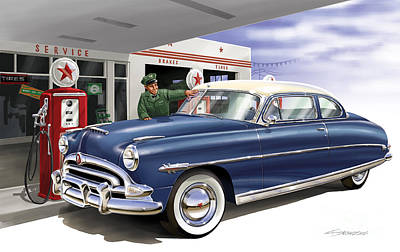 Service Garage Painting - Service With A Smile by Sean Svendsen