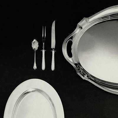 Table Knife Photograph - Serving Dishes And Utensils by Herbert Matter