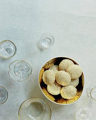 Cooking Photograph - Sesame Cookies by Romulo Yanes