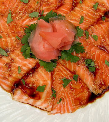 Sesame Salmon Sashimi Art Print by James Temple