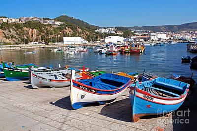 Wooden Boat Photograph - Sesimbra Fishing Boats by Jose Elias - Sofia Pereira