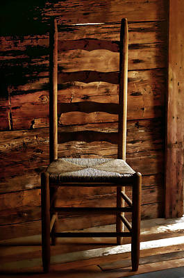 Ladder Back Chairs Photograph - Set A Spell by Linda Mcfarland