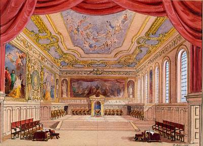 Venice Drawing - Set Design For The Merchant Of Venice by English School