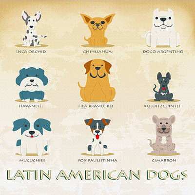 Set Of Latin American Dogs Original