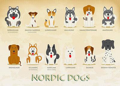 Set Of Nordic Dogs Original