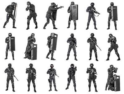Photograph - Set Of Police Officers Swat by Oleg Zabielin