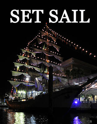 Set Sail Work One Art Print