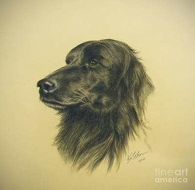 Social Commentary Painting - Setter Lab Mix by Phil Welsher
