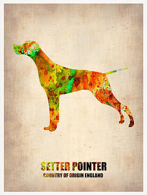 Cute Dog Digital Art - Setter Pointer Poster by Naxart Studio