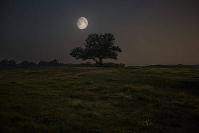 Photograph - Setting Moon by Aaron J Groen