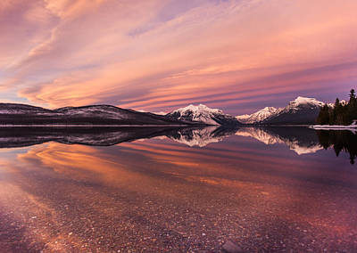 Montana Landscapes Photograph - Setting On Glacier by Aaron Aldrich