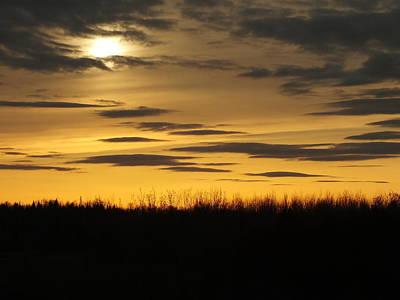 Photograph - Setting Sun by Gene Cyr