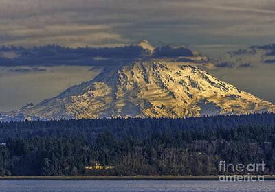 Photograph - Mt Rainier Sunset by Jean OKeeffe Macro Abundance Art
