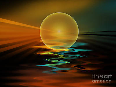 Setting Sun Art Print by Klara Acel