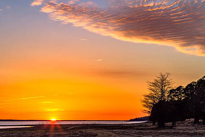 Photograph - Setting Sun - Lake - Landscape by Barry Jones