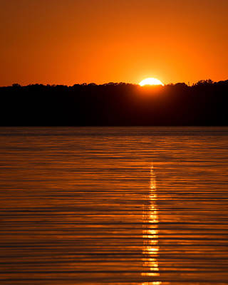 Katharine Hepburn - Setting Sun over Canyon Lake Reservoir by Ray Devlin