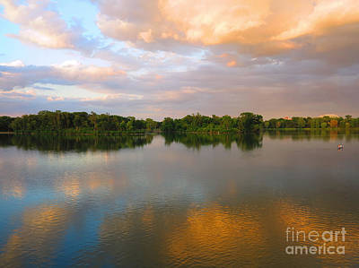 Photograph - Setting Sun Over Lake Of The Isles by Heidi Hermes
