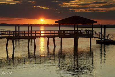 Coastline Digital Art - Setting Sun by Phill Doherty