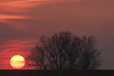 Photograph - Setting Sun by Scott Bean