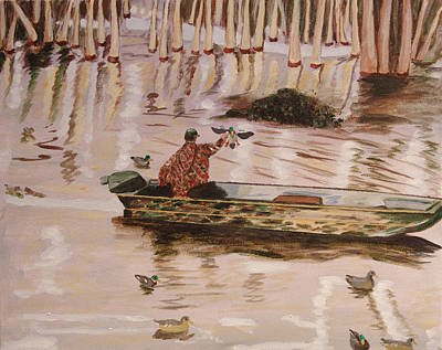 Painting - Setting Up In A Tupelo Swamp by Kevin Callahan