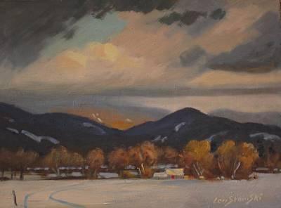 Settled In The Hoosac Valley Art Print by Len Stomski
