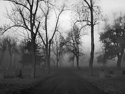 Graveyard Road Photograph - Settling Fog by Gothicrow Images