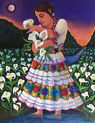 Painting - Seuno En Un Campo De Lirios Cala by Susan Santiago