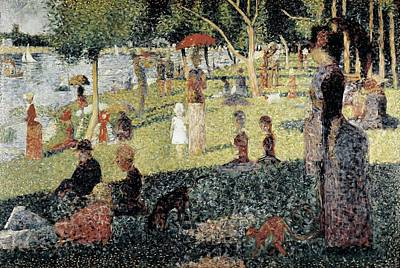 Seurat, Georges 1859-1891. An Afternoon Art Print by Everett