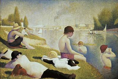 Pointillist Photograph - Seurat, Georges 1859-1891. Bathers by Everett