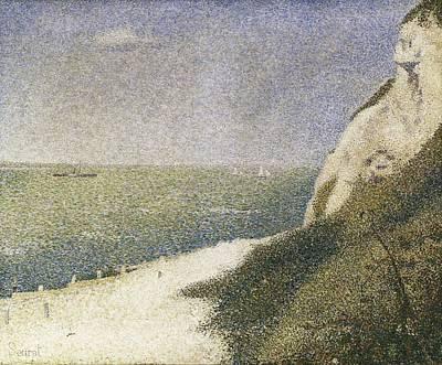 Pointillist Photograph - Seurat, Georges 1859-1891. Beach At Bas by Everett