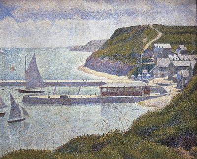 Seurat, Georges 1859-1891. Harbour Art Print by Everett