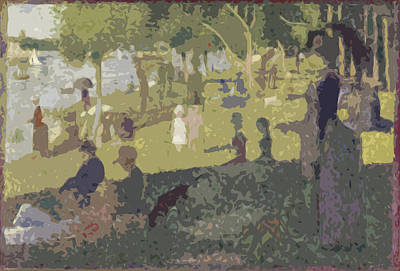 Seurat Sunday Afternoon At The Park Art Print by Ds