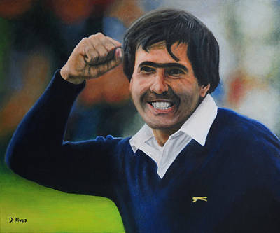 Seve Ballesteros Oil On Canvas Art Print