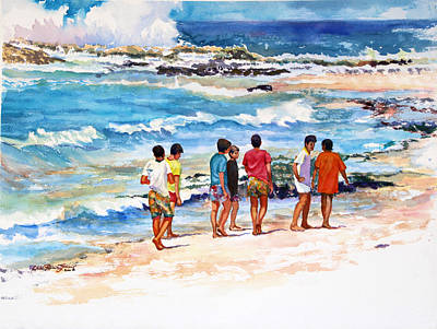 Puerto Rico Painting - Seven  Amigos by Estela Robles Galiano