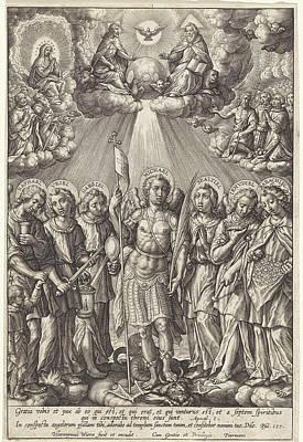 Seven Archangels, Hieronymus Wierix Art Print by Hieronymus Wierix