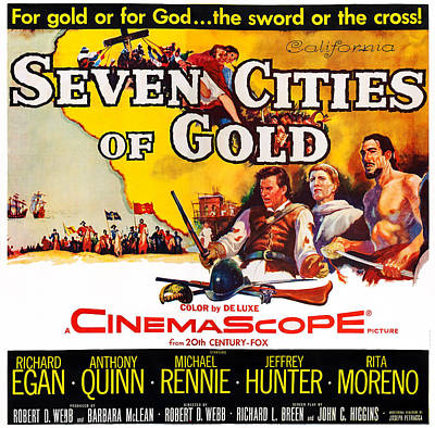 Seven Cities Of Gold, Us Poster, Center Art Print by Everett