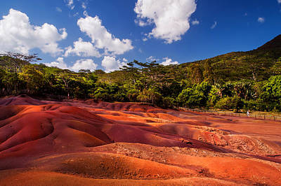 Photograph - Seven Colored Earth In Chamarel 1. Mauritius by Jenny Rainbow